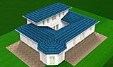 Atrium-Bungalow 117 / 16 / 24 mit Erker und Turm