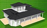 Bungalow mit Atrium 117 / 16 / 26 mit Erker und Turm; 142 m² Wohnfläche