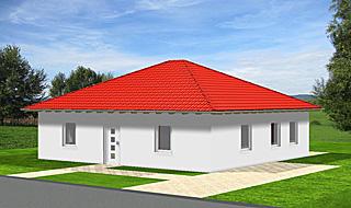 Bungalow mit 90 qm Wohnfläche und vier Zimmern Ansicht 1