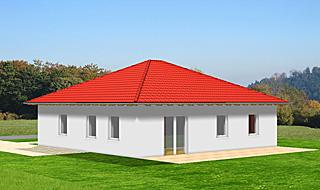 Bungalow mit 90 qm Wohnfläche und vier Zimmern Ansicht 2